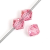 Preciosa Machine Cut bead Rondell 6mm Rose